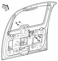 Chrysler PT Cruiser Rear Wiper Motor